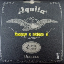 Struny Aquila Super NylGut Ukulele niskie G zestaw