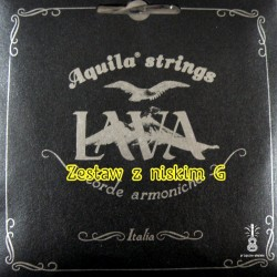 Struny Aquila LAVA black Ukulele Low G set