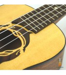 Luna Ukulele concert Dragon Fly solid spruce top