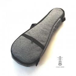 Zebra Music solidny szary pokrowiec dla ukulele 03