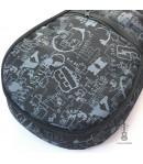 Zebra Music solidny czarny pokrowiec dla ukulele 01