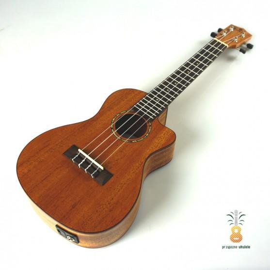 koki'o Ukulele koncert EQ mahoń elektro-akustyk
