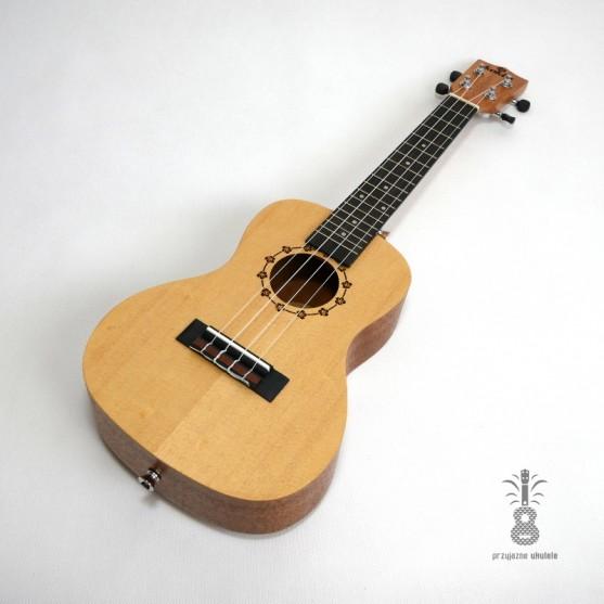 koki'o Ukulele koncert świerkowo-mahoniowe