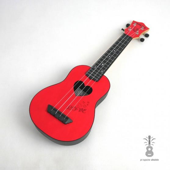 Mahilele Ukulele soprano LOVE 3.0 RED