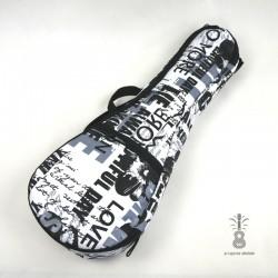 Zebra Music solidny pokrowiec LETTERS dla ukulele 12