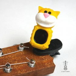 Stroik/Tuner do Ukulele Cat Yellow