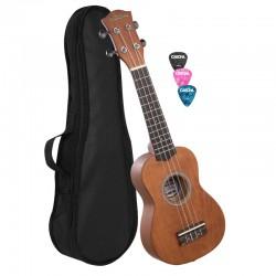 Cascha® ukulele sopranowe BROWN z pokrowcem