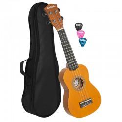 Cascha® ukulele soprano YELLOW with gigbag