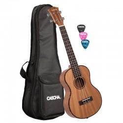 Cascha® ukulele tenorowe mahoń Premium z pokrowcem