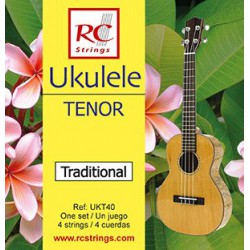 Struny RC Strings do ukulele tenor UKT40 Clear Nylon