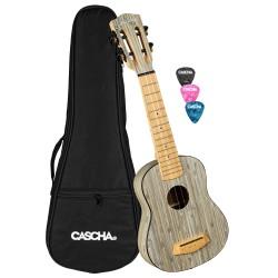 Cascha® ukulele sopranowe Bamboo Graphite